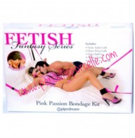 PINK PASSION BONDAGE KIT PER GIOCHI FETISH FANTASY